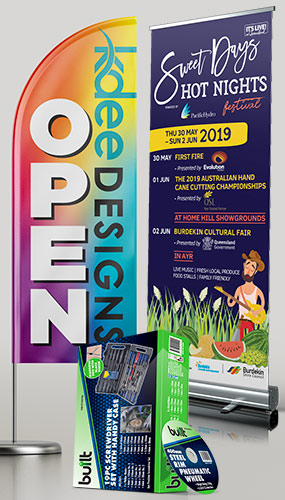 Kdee Designs for signage and packaging