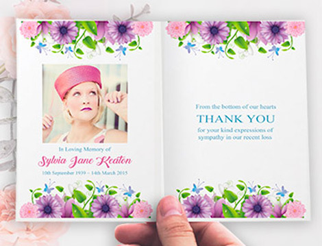 Kdee Designs Memorial thank you cards