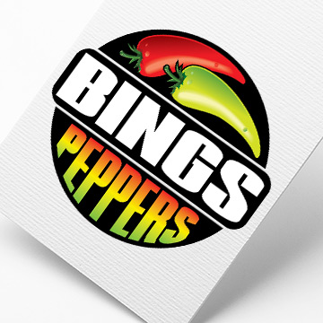 Bings Peppers logo design by Kdee Designs