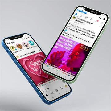 Golden Octopus Foundation Social Media Marketing by Kdee Designs